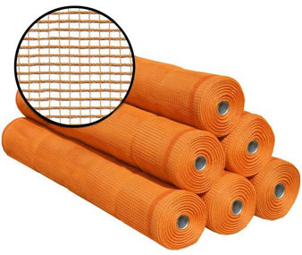 Six rolls of polyethylene vertical debris netting and a detailed picture.